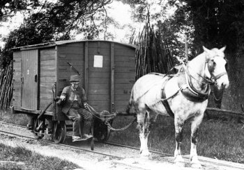 Horse drawn gunpowder tram